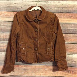 J.crew brown corduroy button down blazer